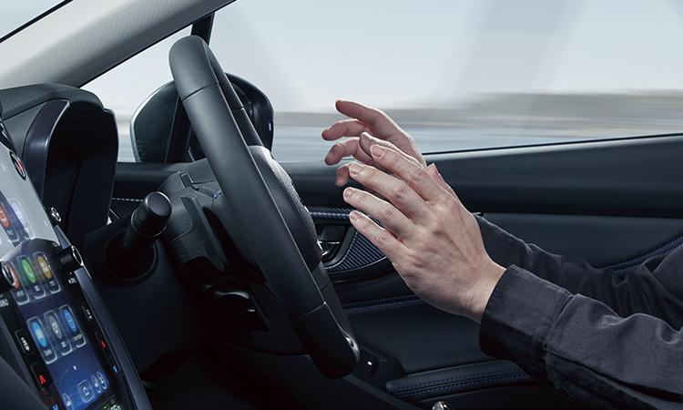 レヴォーグ 渋滞時ハンズオフアシストイメージ