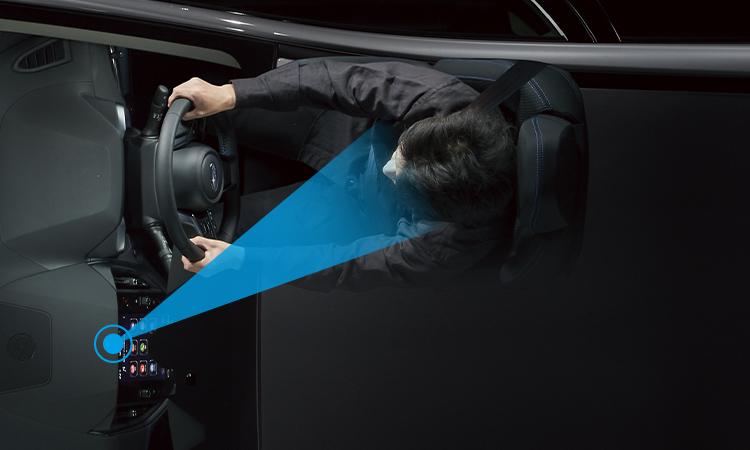 レヴォーグ ドライバーモニタリングシステム 認識イメージ