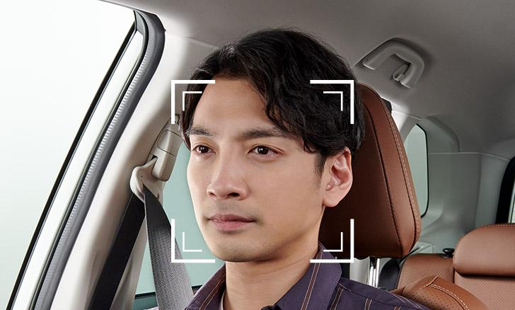 フォレスター インパネセンターバイザーに内蔵されたカメラによる認識イメージ