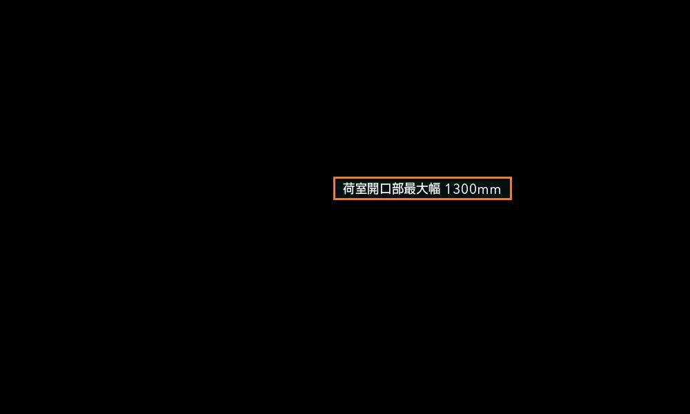 フォレスター 荷室開口部最大幅 1300mm