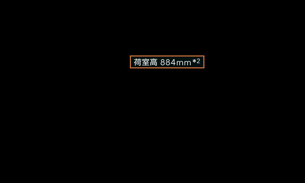 フォレスター 荷室高 884mm*2