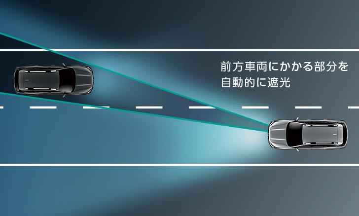 レガシィ アウトバック ハイビームの照射範囲を緻密にコントロール アレイ式アダプティブドライビングビーム