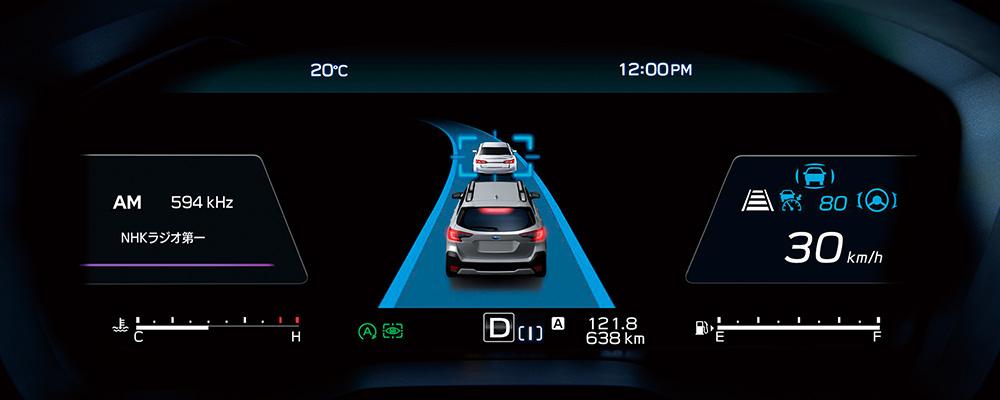 レガシィ アウトバック 12.3インチフル液晶メーター アイサイト画面