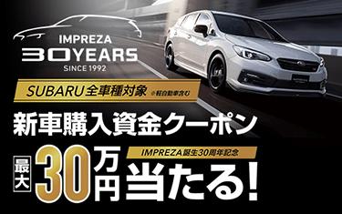 最大30万円新車購入資金プレゼント!